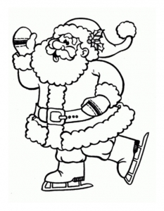 coloriage-pere-noel-3 free to print