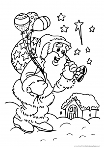 coloriage-pere-noel-9 free to print