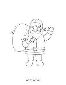 Père Noël à découper