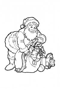 coloriage-pere-noel-joujoux free to print
