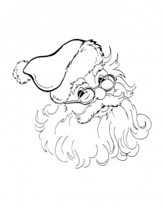 coloriage-pere-noel-lunettes free to print
