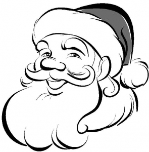 coloriage-pere-noel-tete free to print
