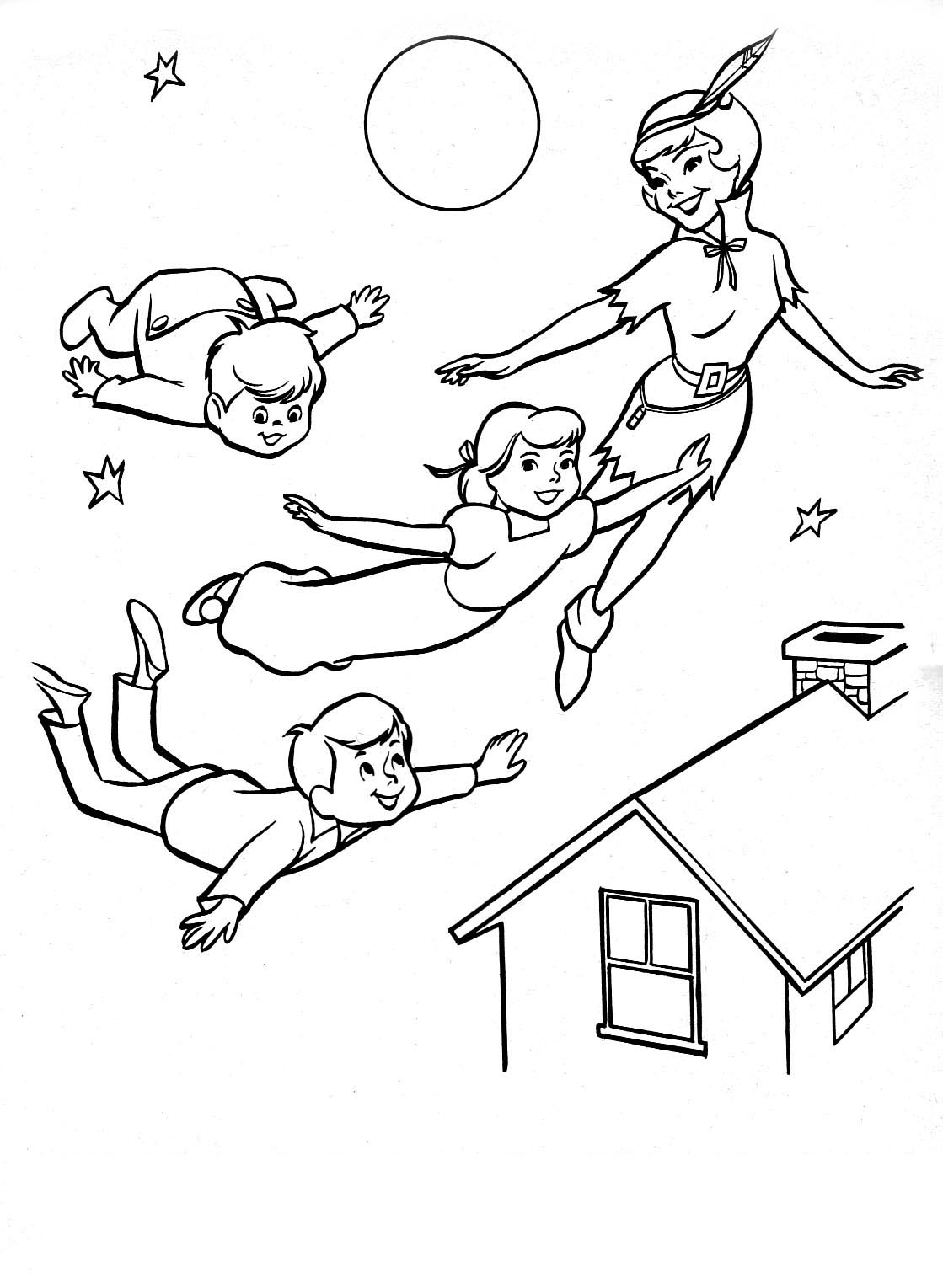 Peter pan 5 coloriage peter pan coloriages pour enfants - Coloriages peter pan ...