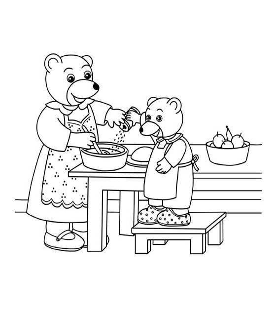 Petit ours brun 15 coloriage petit ours brun - Dessin manger ...