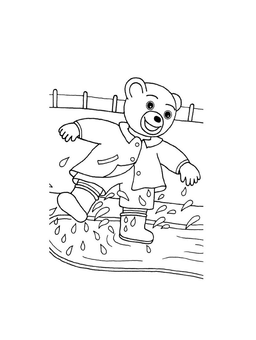 Que c'est rigolo de s'éclabousser en marchant dans les flaques d'eau ! Pas pour Maman qui doit tout laver
