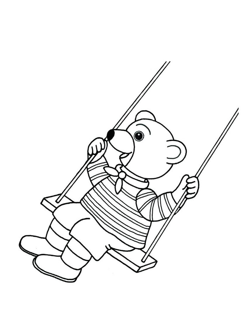 Petit ours brun 19 coloriage petit ours brun coloriages pour enfants - Petit ours dessin anime ...