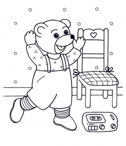 coloriage-petit-ours-brun-14 free to print
