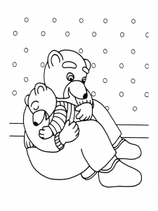 coloriage-petit-ours-brun-16 free to print