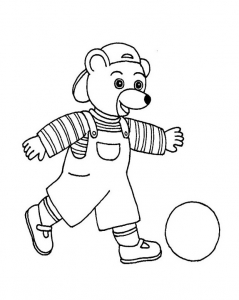 Coloriage petit ours brun 2