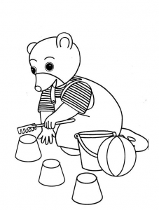 coloriage-petit-ours-brun-9 free to print