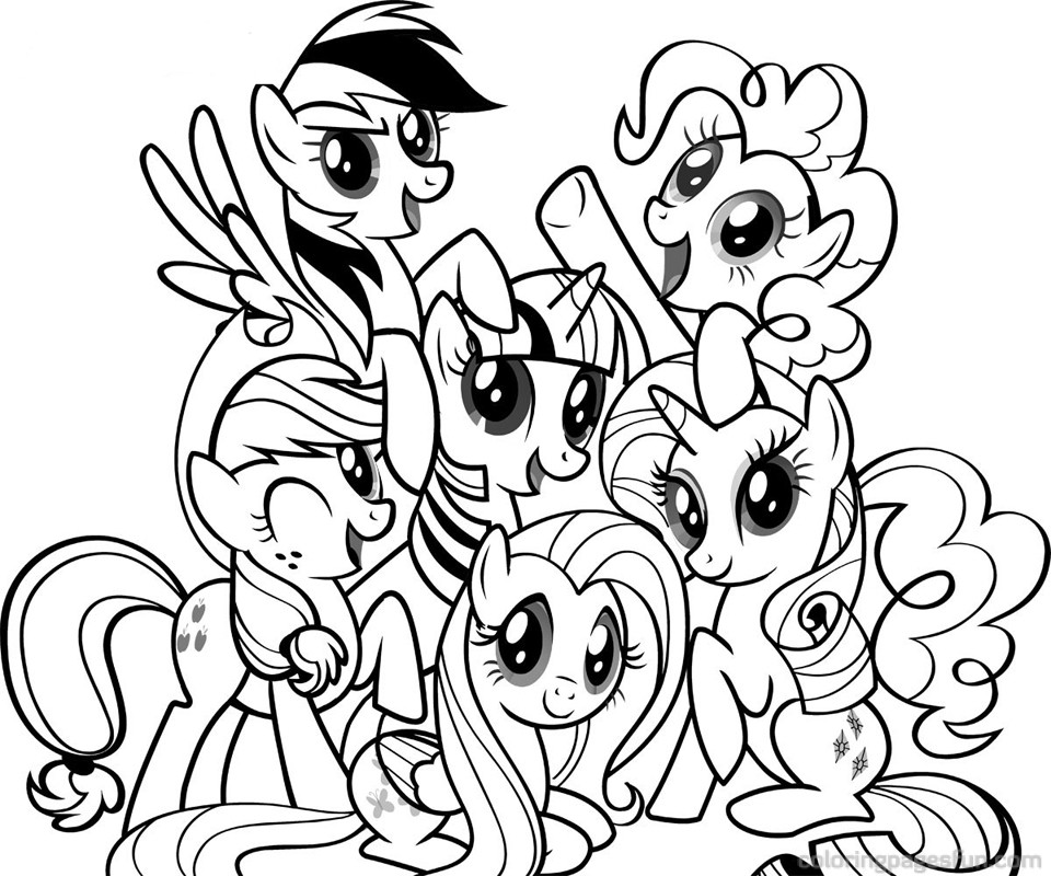 My Little Pony 1 Coloriage Des Petits Poneys My Little Pony