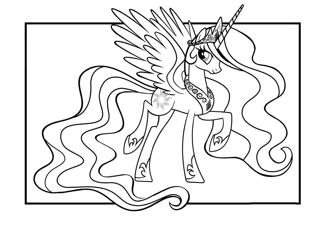 Coloriage De Cheval Et De Licorne.My Little Pony 5 Coloriage Des Petits Poneys My Little Pony