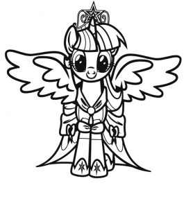Coloriage de Petit poney à telecharger gratuitement