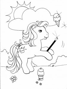 Coloriage petit poney 1