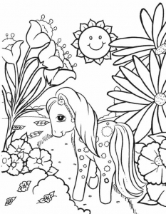 Coloriage petit poney 2
