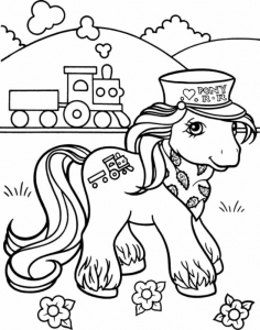 Coloriage petit poney 3