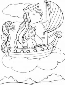 Coloriage petit poney 5