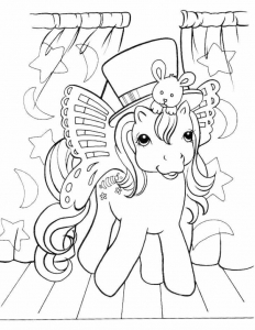 Coloriage petit poney 6