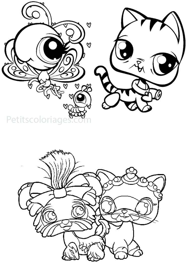 Petshop 3 coloriage petshops coloriages pour enfants - Coloriage de petshop a imprimer gratuit ...