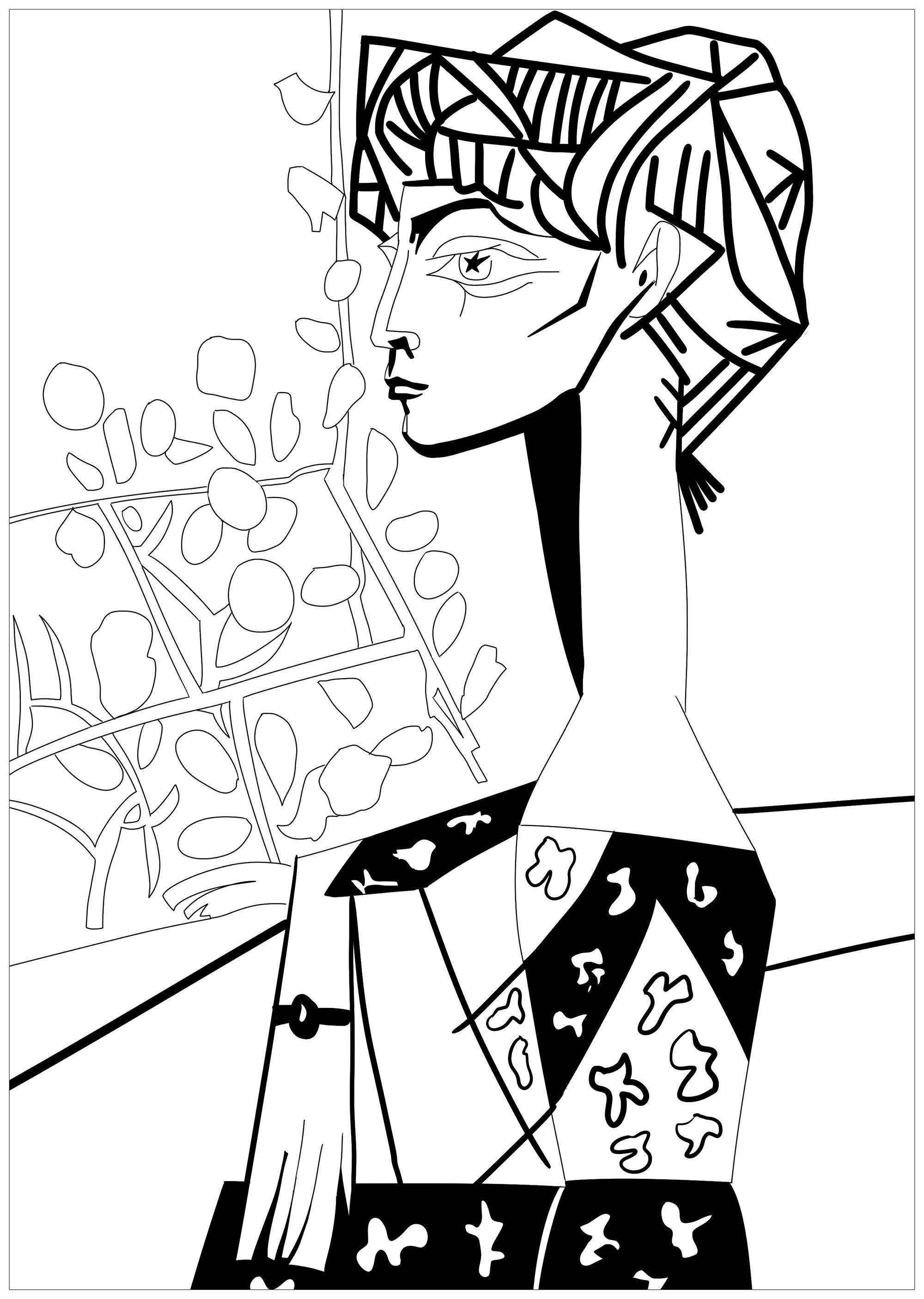 Dessin de Picasso gratuit à imprimer et colorier ...
