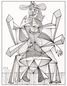 Coloriage de Picasso à imprimer gratuitement