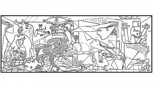 Coloriage de Picasso à telecharger gratuitement