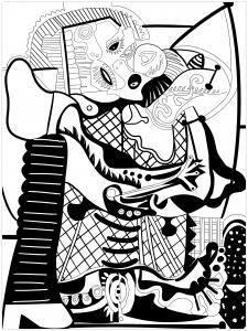 Coloriage de Picasso à colorier pour enfants