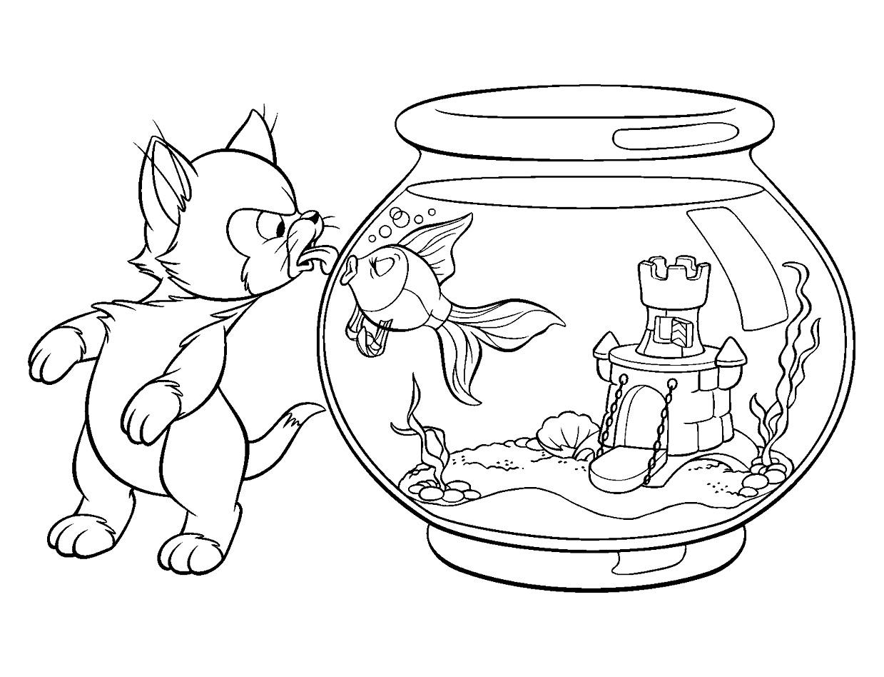 Pinocchio 6 coloriage pinocchio coloriages pour enfants - Jeux de coloriage de chat ...