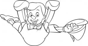 Dessin de Pinocchio gratuit à télécharger et colorier