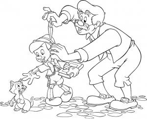 Coloriage de Pinocchio à imprimer gratuitement