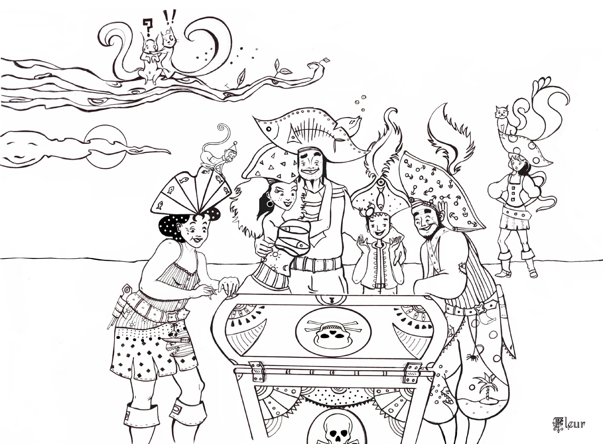 Pirates 1 coloriage de pirates coloriages pour enfants - Dessins a colorier gratuit ...