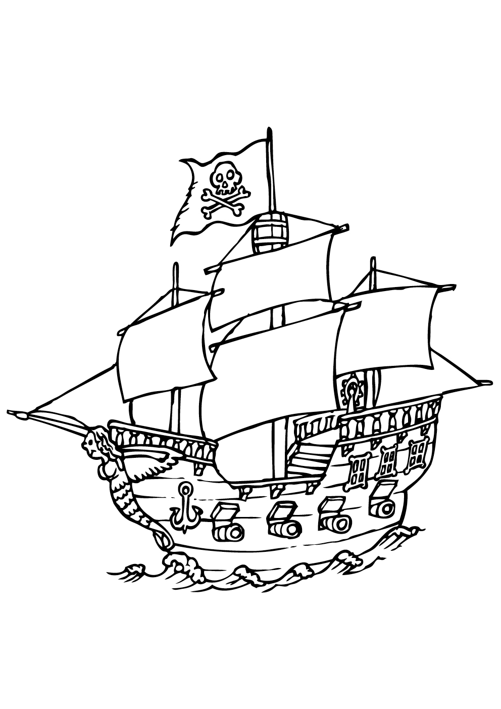 Pirates 8 coloriage de pirates coloriages pour enfants - Bateau pirate dessin ...
