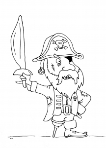 coloriage-pirate-jambe-bois free to print