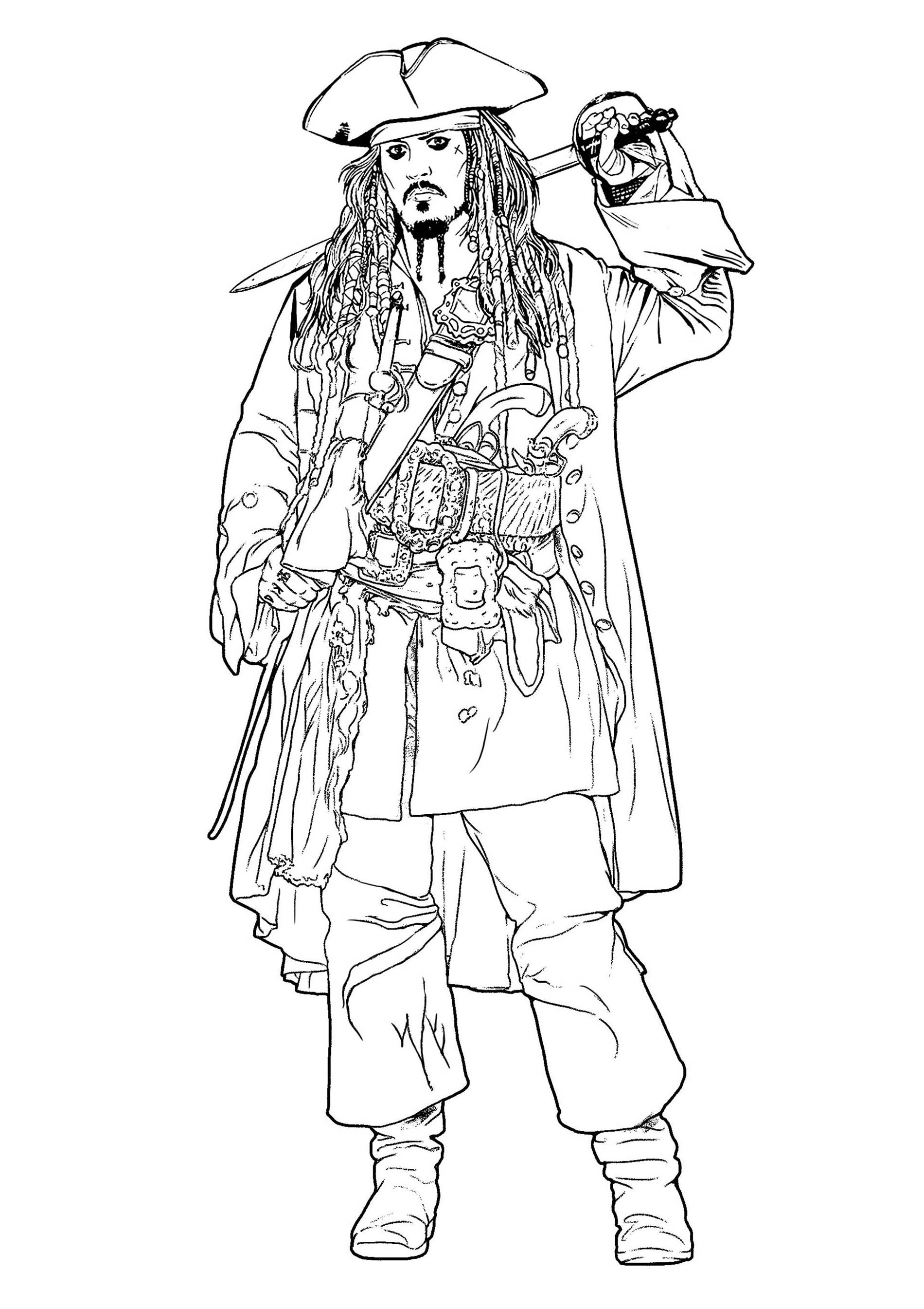 Jack Sparrow Pirates Des Cara 239 Bes Coloriage Pirates Des