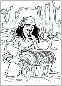 Jack Sparrow et son trésor.