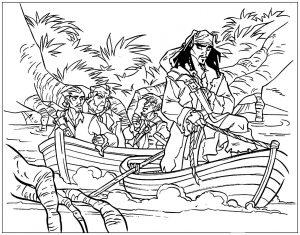 Jack Sparrow et son équipe