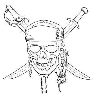 Tête de mort de Pirates des Caraïbes