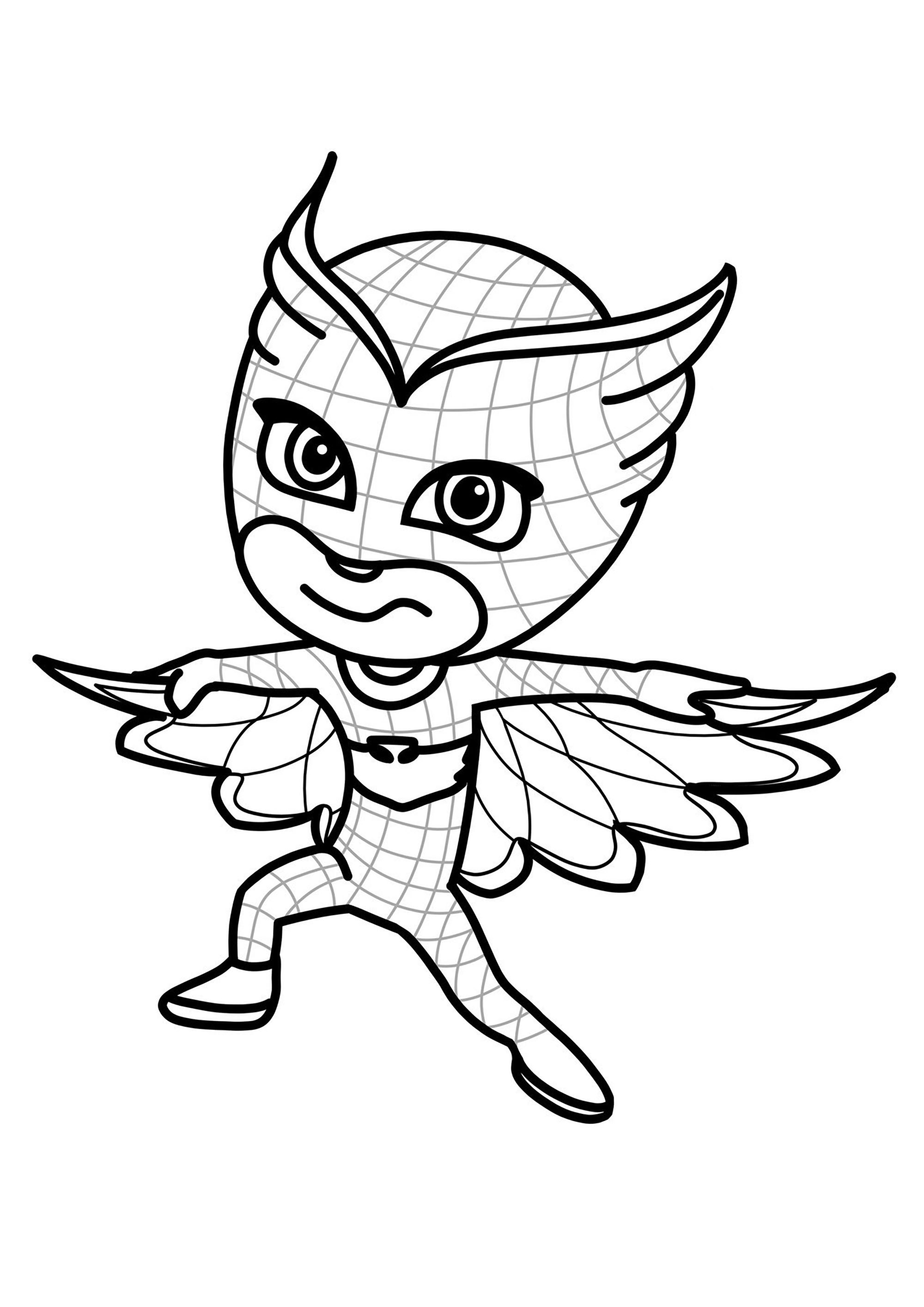 Owlette et son déguisement d'Hibou