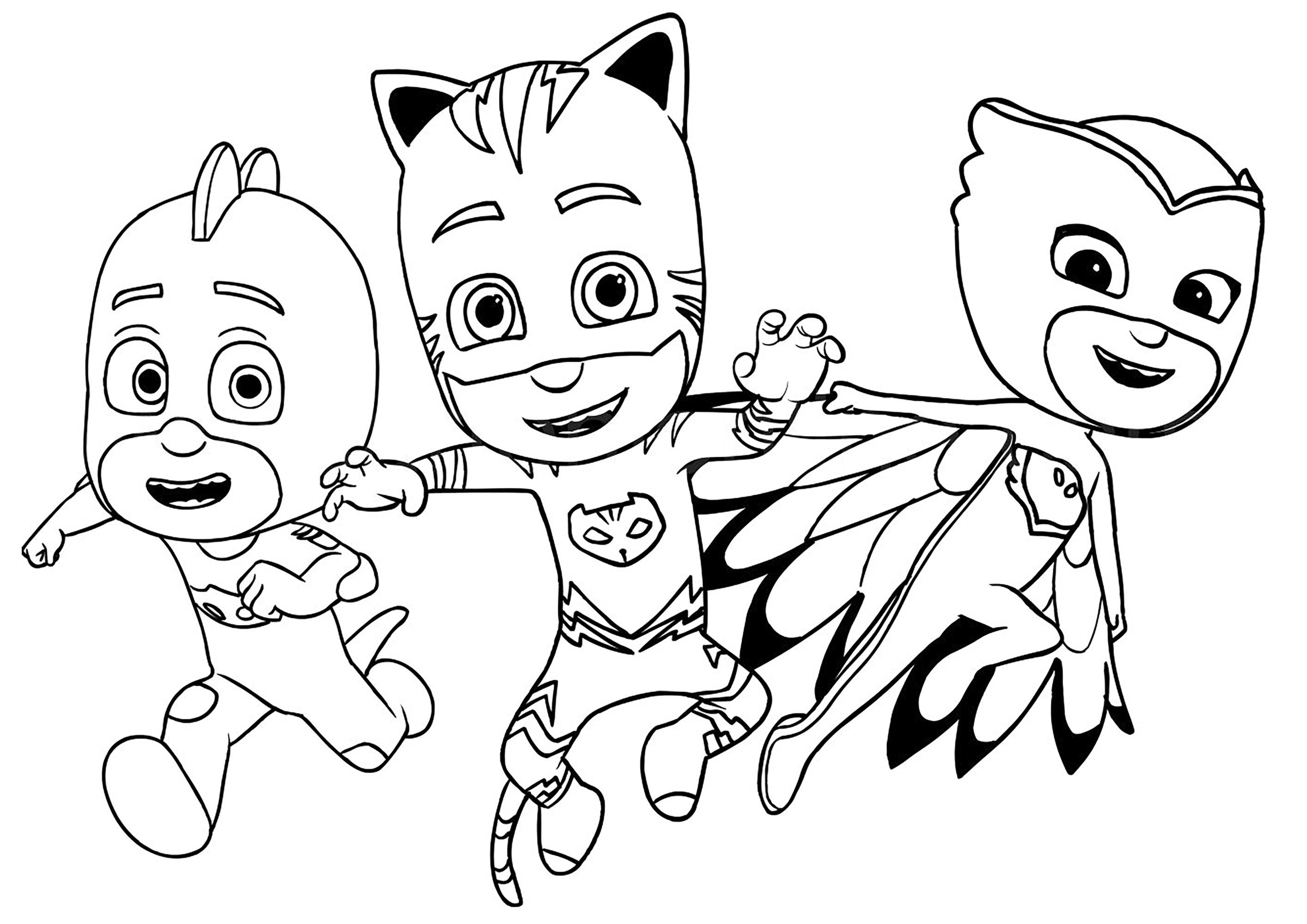Catboy, Owlette et Gekko