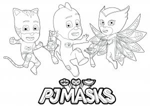 PJ Masks : Logo et 3 personnages