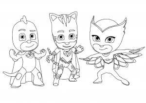 PJ Masks : les 3 héros réunis