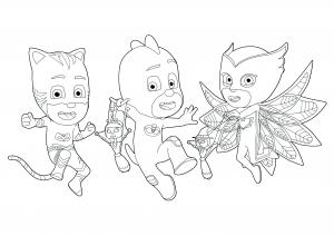 PJ Masks : les 3 jeunes super héros