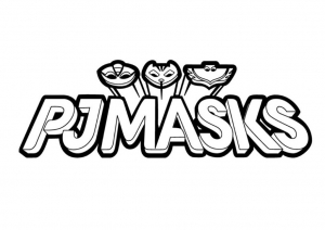 Logo PJ Masks à colorier