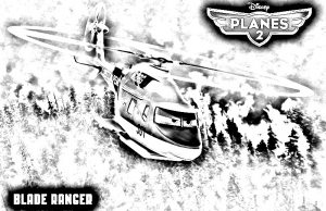 coloriage-planes-2-blade-ranger free to print