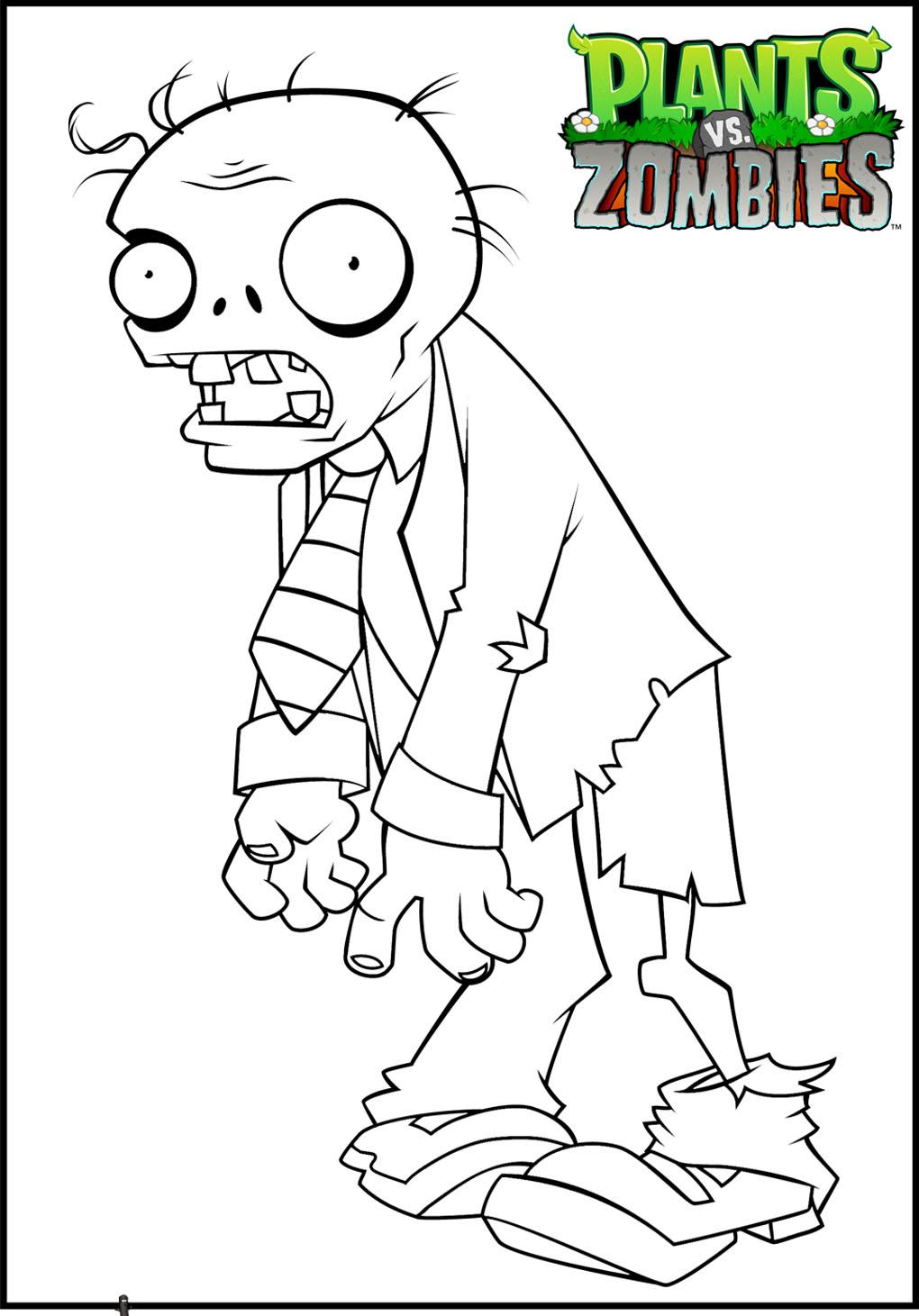 Plant vs zombie 11 coloriage plants vs zombies - Zombie dessin ...
