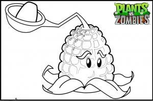 coloriage-plant-vs-zombie-8 free to print
