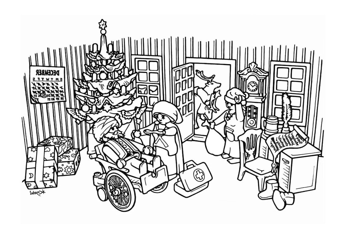 Playmobil noel coloriage playmobil coloriages pour enfants - Dessin a colorier playmobil moto ...