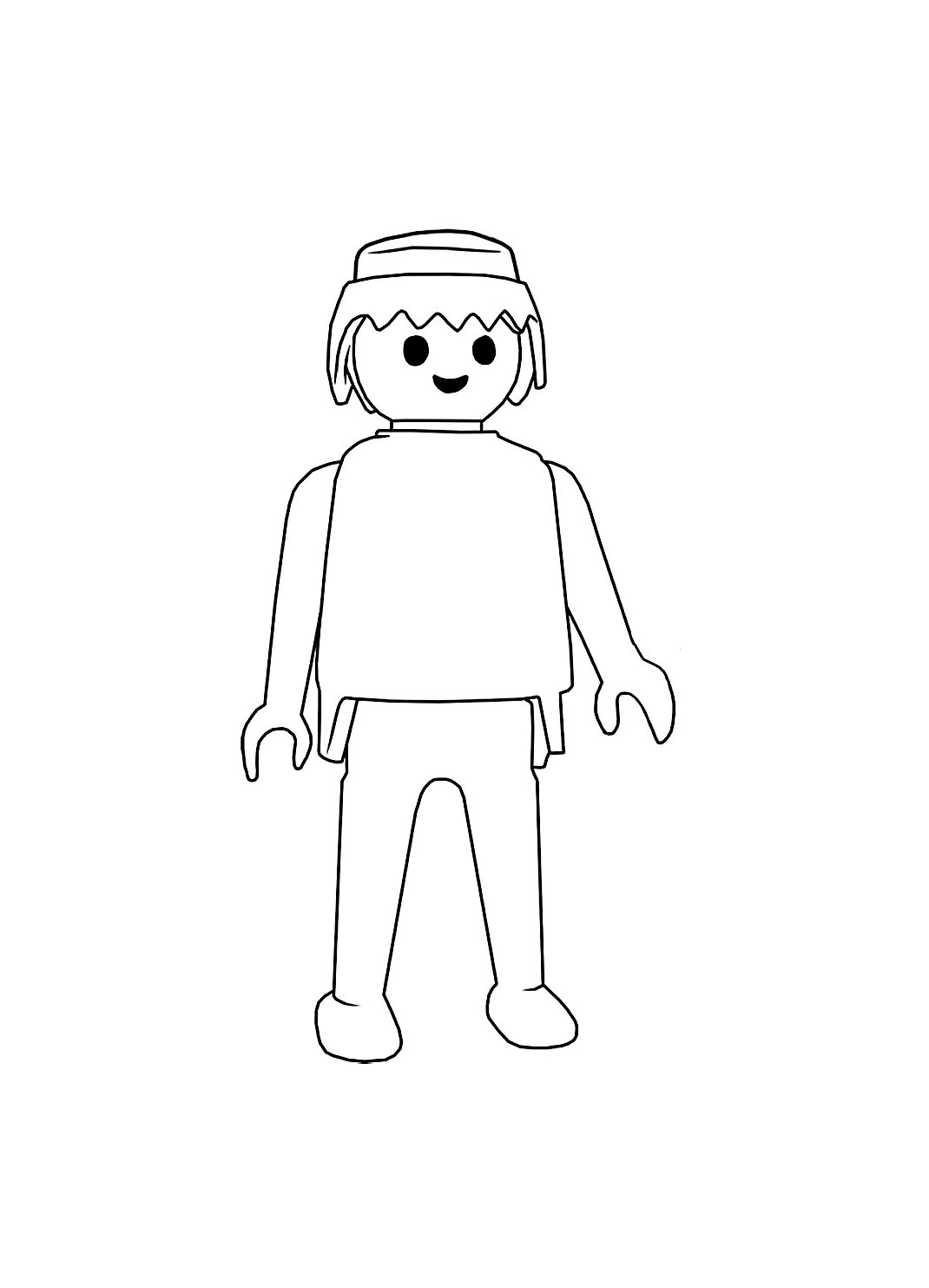 Playmobil personnage simple - Coloriage Playmobil - Coloriages