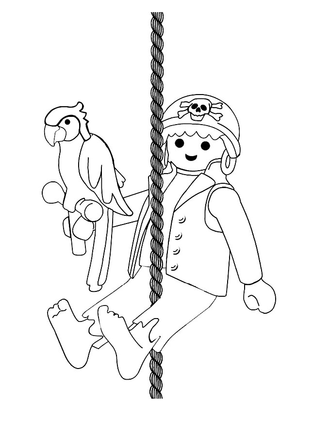 Playmobil perroquet coloriage playmobil coloriages pour enfants - Dessin a colorier playmobil moto ...