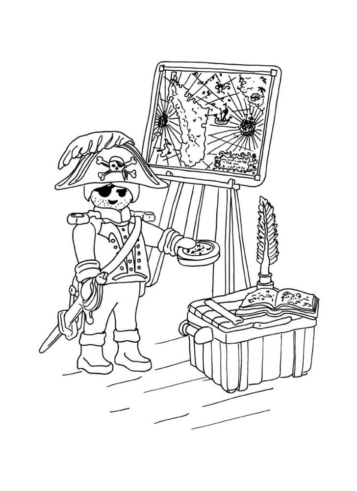 Playmobil pirate tresor coloriage playmobil coloriages pour enfants - Coloriage tresor ...